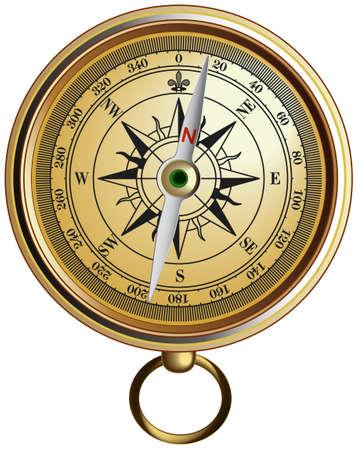 Vector realistic represented compass Vector