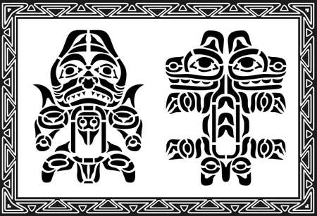 Set of ancient american indian patterns Stock Vector - 8504244