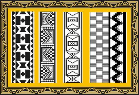 indio americano: Conjunto de antiguos patrones de indios americanos