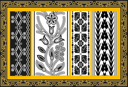 Set of ancient american indian patterns Stock Vector - 8504258