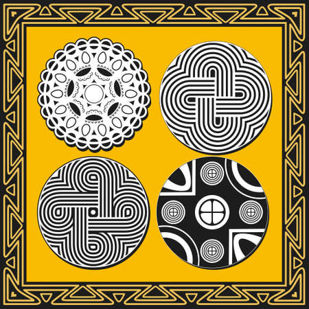 Set of ancient american indian patterns Stock Vector - 8504301