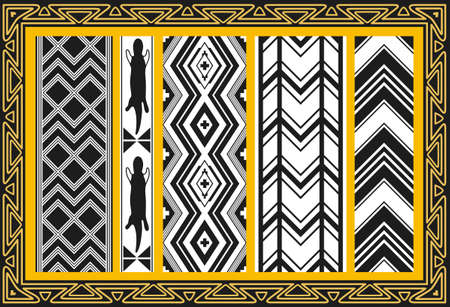Set of ancient american indian patterns Stock Vector - 8504256