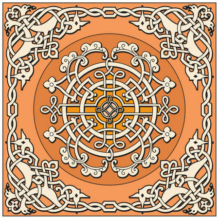 Ancient old russian vector pattern Vector