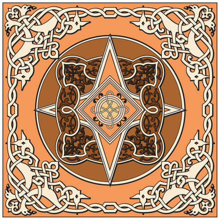 webbed: Ancient old russian vector pattern