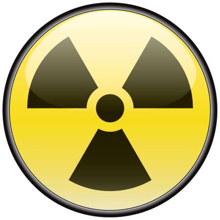 hazardous sign: Radiation vector round hazardous sign