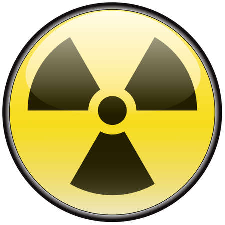 hazardous: Radiazioni vettoriale round segno pericolosi