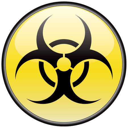 Biohazard vector round hazardous sign Stock Vector - 8504273