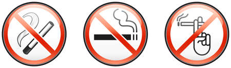 Three no smoking signs Stock Vector - 8504319