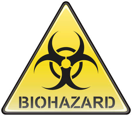 Biohazard vector triangle sign