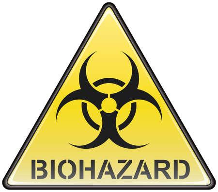 riesgo biologico: Signo de peligro biol�gico vector tri�ngulo Vectores