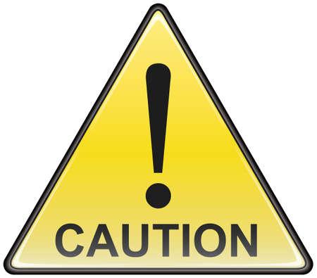 hazardous sign: Triangular caution vector hazardous sign