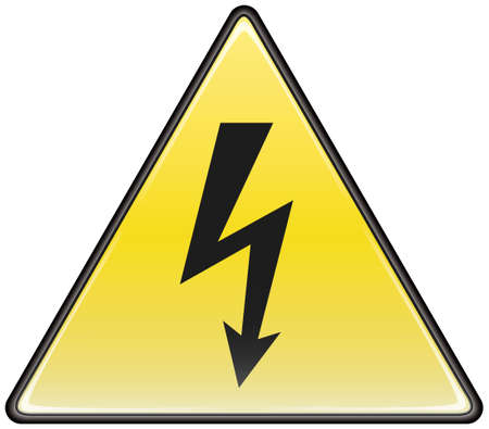 Electric hazard triangular vector sign Stock Vector - 8504306