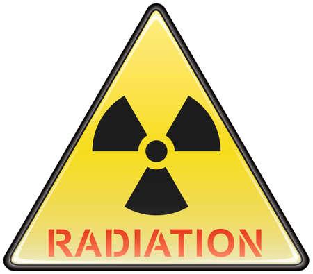 hazardous sign: Radiation vector triangle hazardous sign Illustration