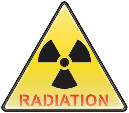 Radiation vector triangle hazardous sign Stock Vector - 8504308
