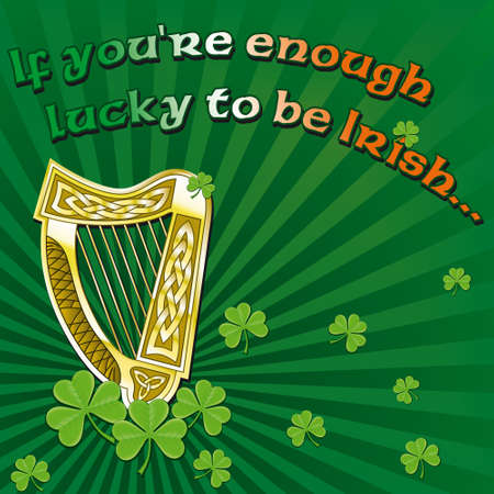 Saint Patrick's day greetings on green background Stock Photo - 8576559