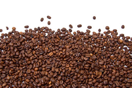 Partially filled with roasted coffee beans background