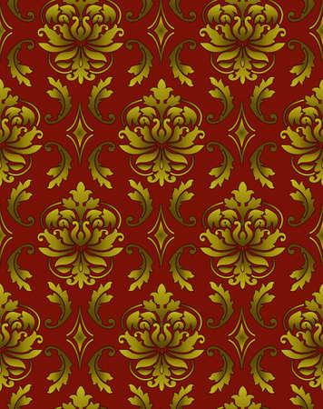 Seamless ornamental luxury pattern Stock Photo - 9097347