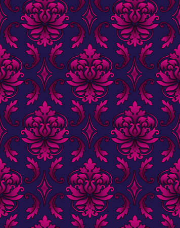 Seamless ornamental luxury pattern background Stock Photo