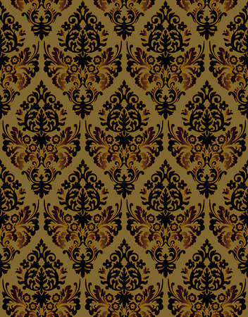 Seamless ornamental luxury pattern Stock Photo - 9097350