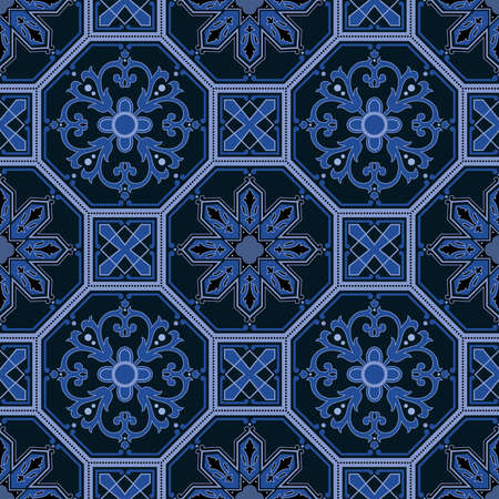 Seamless pattern oriental ornemental Banque d'images - 9097349