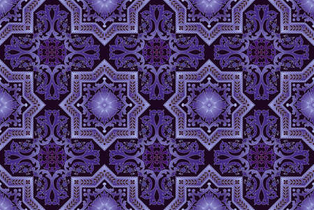 Seamless pattern oriental ornemental Banque d'images - 9097353