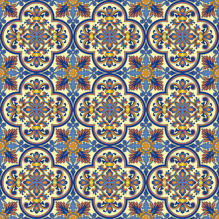 Seamless pattern oriental ornemental Banque d'images - 9097355