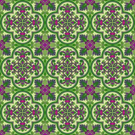 Seamless ornamental oriental pattern Stock Photo - 9097354