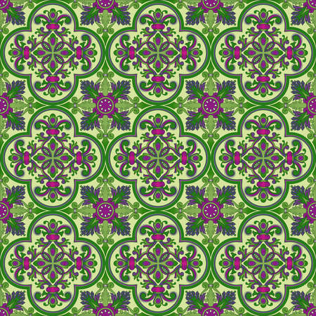 Seamless pattern oriental ornemental Banque d'images - 9097354