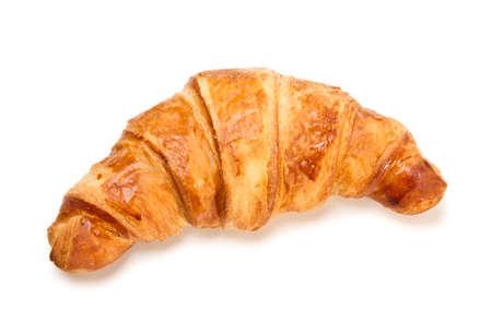 Croissant français isolé sur fond blanc
