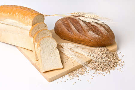 Still life with bread on light background Stock Photo - 9407439