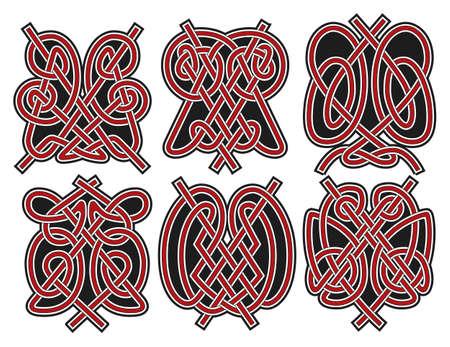 Set of vector ancient celtic design elements Illustration