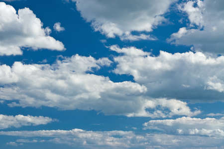 Blue sky with intensive cumulus