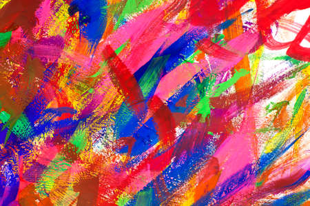 gouache: Abstract colorful  gouache brush strokes background
