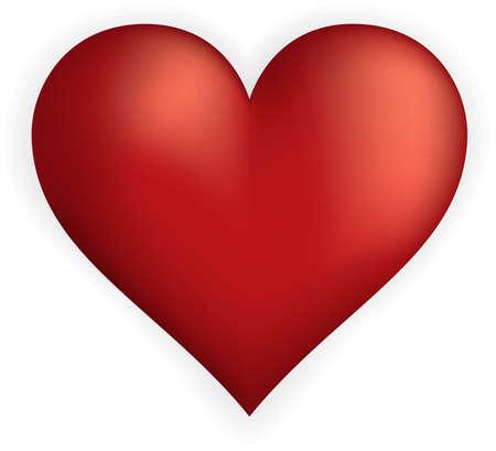 Volumetric vector heart shape Stock Photo