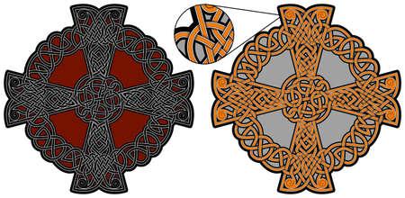 Ancient celtic cross. Vector design element
