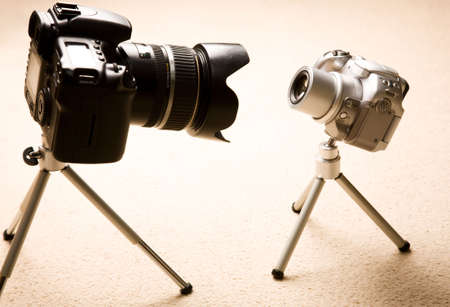 superiority: Meeteing. Funny image about two cameras.