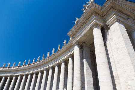 saint peter: Colonnade on Saint Peter square in Rome Italy. Stock Photo