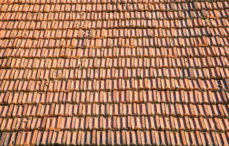 Tile on a roof. Texture or background. Stock Photo - 5148624