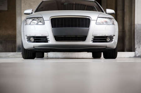 High-powered modern car front view. Stock Photo - 5186275