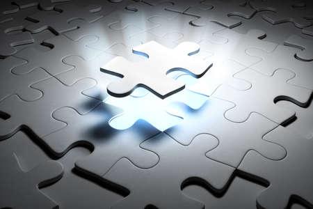 Special puzzle. 3d render image. photo