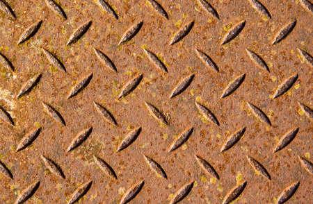 treadplate: Rusty metal texture or background.
