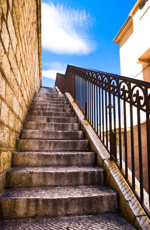 Stairs concept. Old Italian city. photo