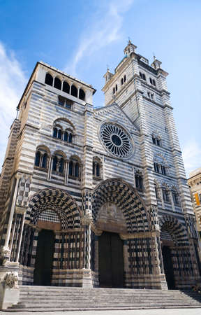 genoa: Old cathedral in Genoa Italy.