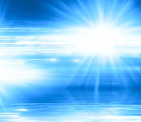 ray trace: Abstract blue background with lines and rays.