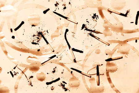 Abstract background with matches and dirt on paper. High contrast. Stock Photo - 5390326