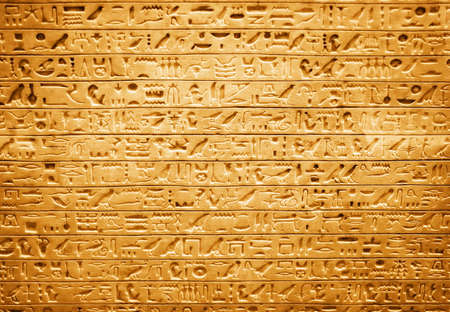 ancient egyptian culture: Egyptian hieroglyphs. High contrast and red tint.