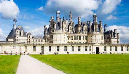 Chambord castle in Loire France.  photo