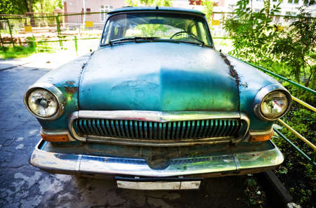 Old car. Wide angle view. Stock Photo - 5396351