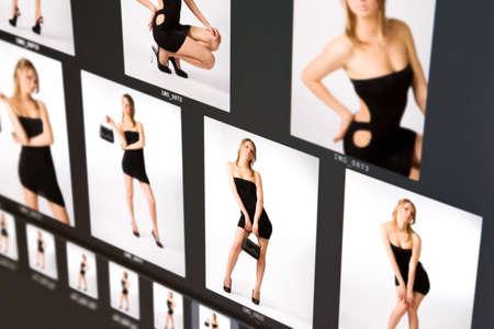 Fashion background. Imitation of computer screen. photo