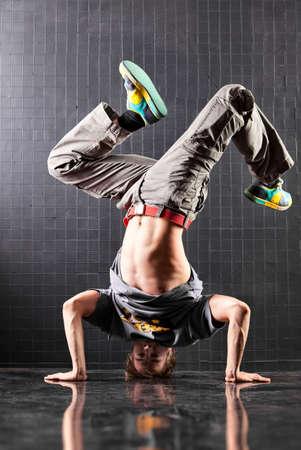Dancer. Young man modern dance. photo